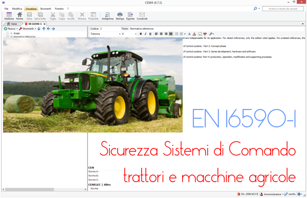 EN 16590-1: SRP/CS Tractors and machinery for agriculture and forestry