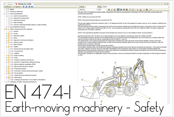 EN 474-1:2009 Earth-moving machinery. Safety. General requirements