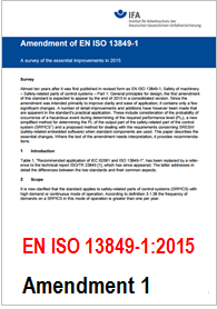 EN ISO 13849-1 Amendment 1 2015