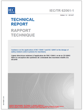 IEC/TR 62061-1:2010 Ed. 1.0 Technical Report