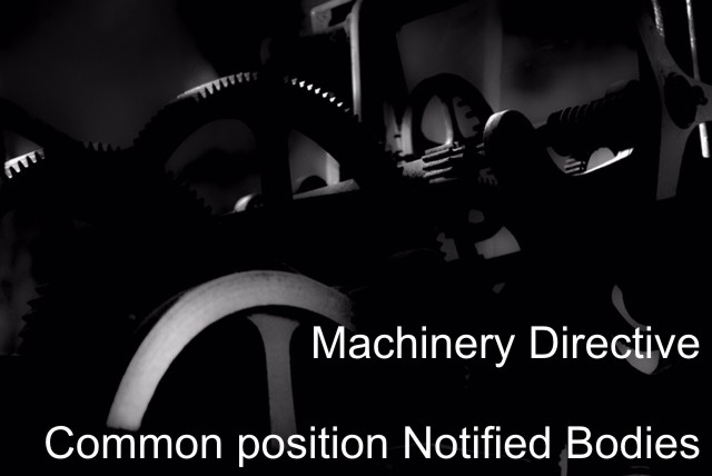 Machinery Directive: Common position of the Notified Bodies