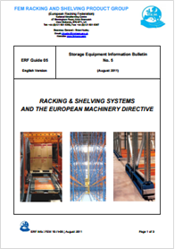 Racking & shelving systems and the european machinery directive