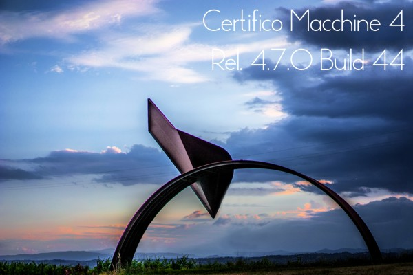 "Certifico Macchine 4 (Rel. 4.7.0 Build 44) Patch 07 ""Abstract"""