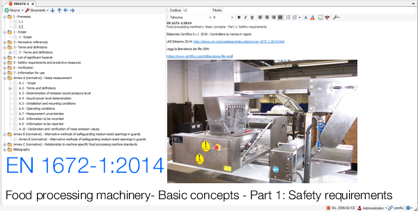 EN 1672-1 Food processing machinery: Safety requirements | File CEM
